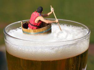 beer, afloat, drifting